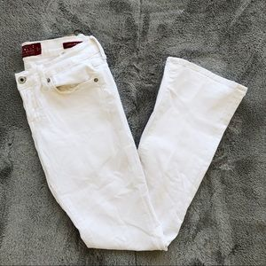 Lucky Brand Charlie Baby Boot White Jeans
